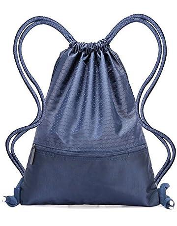 1905af222 Drawstring Bag - Swimming Bag Gymsack PE Backpack Chich Bag - Hovinso  Lightweight Sport Gym Rucksack