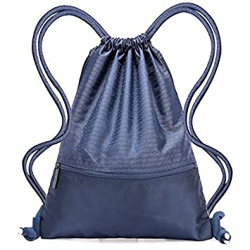 f4a17329e56c Drawstring Bag - Swimming Bag Gymsack PE Backpack Chich Bag - Hovinso  Lightweight Sport Gym Rucksack Shoulder Bag Tote Travel School Gymnastic  Swim ...