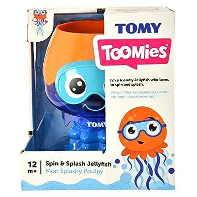 Toomies Spin & Splash Jellyfish Baby Bath Toy: Toys & Games