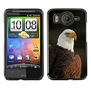 A-type Arte & diseño plástico duro Fundas Cover Cubre Hard Case Cover para HTC G10 (National Bird Feathers American Patriotic)