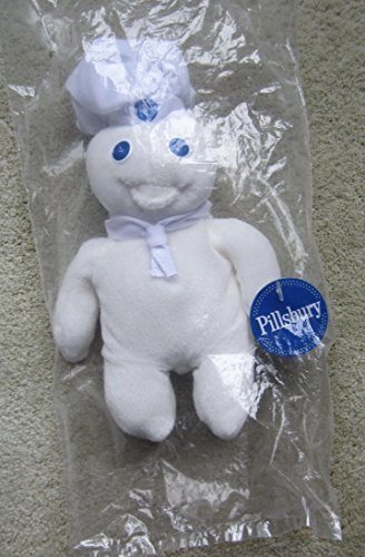 1997 Pillsbury Doughboy Plush 8 Inch Bean Bag Doll