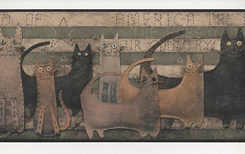 Cats - HA6107-2B - Wallpaper Border wallpapers2u