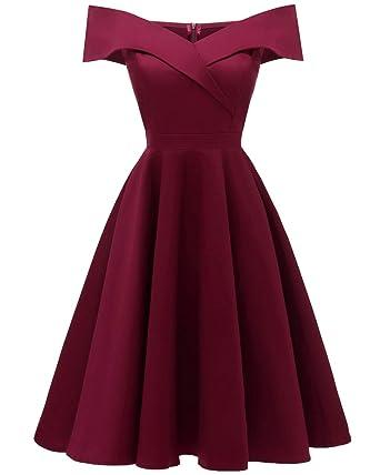 brand new 16847 c5ddc Viloree 50s Rockabilly Damen Kleid Baumwolle Schulterfrei Swing Party  festlich