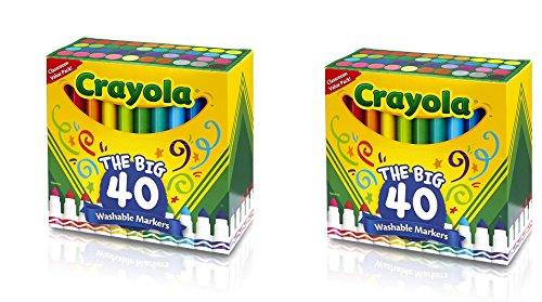 크래욜라 Crayola 58-7858 Ultra-Clean Washable Broad Line Markers