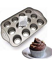 12 Cups Nonstick Mini Cheesecake Pan with Removable Bottom, springform Pan, Cake pan,Tart pan,Quiche pan