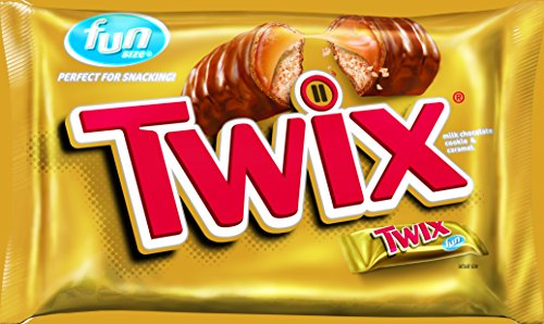 (Twix Caramel Fun Size Candy, 22.34-Ounce Packages (Pack of 4) )
