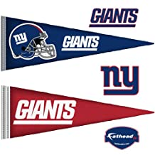 Fathead 14-14186 Wall Decal, New York Giants NFL Pennant