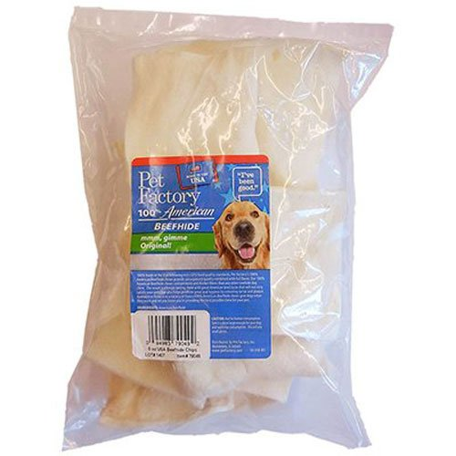 PET FACTORY 79049 Rawhide Dog Chip, 6-Ounce