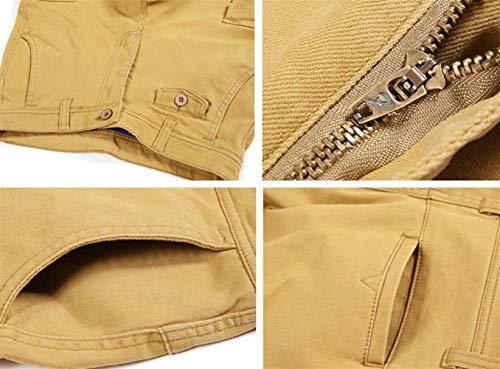 Sólido Cómodo Los Verde Y Carga Khaki Pantalones Hombres Suelta Battercake Vestir De Primavera Trabajo Otoño Color 0wOHFUCx
