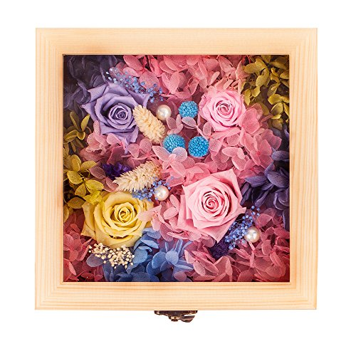 - Preserved Fresh Flowers Gift Pack Immortal Flowers Never Withered Colorful Roses Best Gift For Valentine's Day Mother's Day (Large Size)