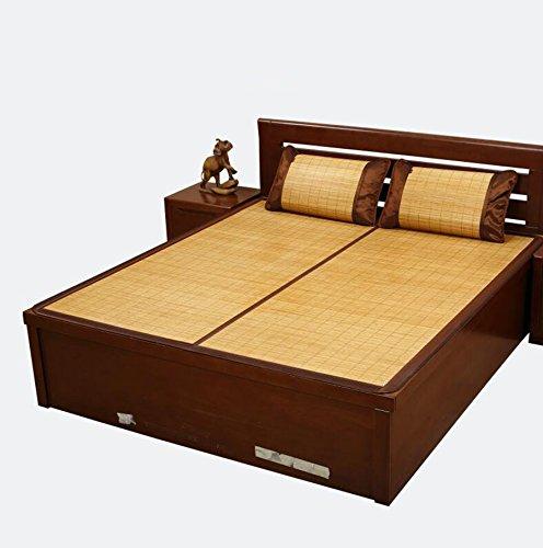 Sommerbettmatte Matten Sommer 1.8 1.5m 1.35 doppelte klappbare Bambusmatte Einzelbett Matte 1.2 1 0.9 m Einzel 180  200cm Falten (größe   150  200cm)  100195cm