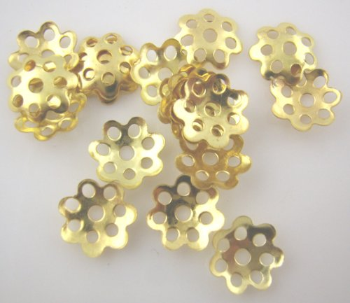 1,000PC Gold Plated Bead End Caps 8mm Bead Caps Beading Supplies