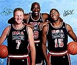 Larry Bird & Magic Johnson Dual-Signed Autographed 1992 Olympics Dream Team 20x24 Photo w/Michael Jordan TRISTAR COA