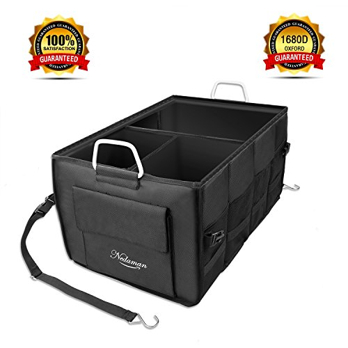 Car Trunk Organizer By Nedaman Premium Quality Premium Oxford 1680D Fabric Cargo Storage Container Best For Auto  Suv  Truck  Non Slip Bottom Strips To Prevent Sliding Enhance Your Travel Experience