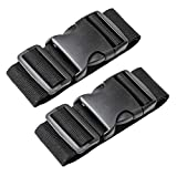Luxebell Add A Bag Luggage Straps, 1.96 in W x1.64 ft L, 2-Pack