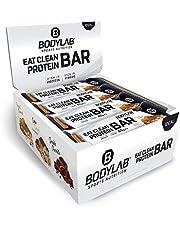 Bodylab Eat Clean Bar 12 x 65g   Suikerarme eiwitreep met waardevolle vezels   20g eiwit per reep   Lekkere eiwitreep voor fitness, sport en onderweg   pinda-karamel