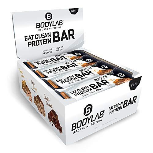 Bodylab Eat Clean Bar 12 x 65g   Suikerarme eiwitreep met waardevolle vezels   20g eiwit per reep   Lekkere eiwitreep…