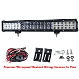 Advanced 3 Rows 20Inch 315W CREE LED Light Bar 31500LM Spot Flood COMBO Offroad Work Driving Lamp, 1 Year Warranty