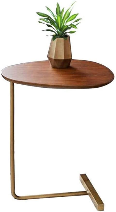 Couleur : B Table basse vintage ovale adapt/ée aux petits espaces Pieds En M/étal Et Dessus En Bois MDF Table dappoint de salon Consoles Table dappoint