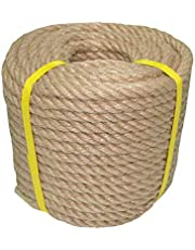 100% Natural Jute Rope Hemp Rope 50 Feet 1/2 Inch Strong Jute Twine for DIY Crafts Gardening Hammock Home Decorating