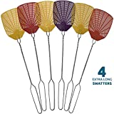 W4W Bug & Fly Swatter – Extra Long Handle Fly Swatters – Indoor/Outdoor – Pest Control flyswatter