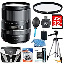 Tamron 16-300mm f/3.5-6.3 Di II VC PZD MACRO Lens for Canon EF-S Cameras includes: 16-300mm Lens for Canon cameras, 32GB SD Memory Card, 67mm UV Protective Filter, Carry Case, 57-Inch Full Size Tripod & more