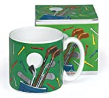 Golf Club 13 Oz Ceramic Coffee Mug for Golfers with Gift Box