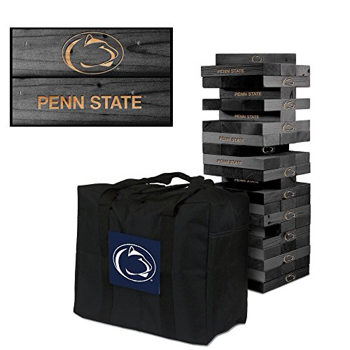 NCAA Penn State Nittany Lions 850326Penn State University Nittany Lions Onyx Stained Giant Wooden Tumble Tower Game, Multicolor, One Size by Victory Tailgate