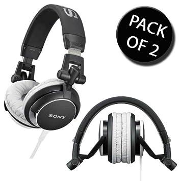b975e0ef7e4 2x Sony MDR-V55/BC1 Stylish DJ Overheads Headphones: Amazon.co.uk:  Electronics