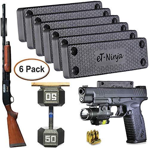 Magnetic Gun Mount Holster 53lb. - Gun Magnet Mount - Discreet Tactical Concealed Carry Handgun Holder for Car Truck Under Desk Bedside Wall w/Anti Scratch Rubber Coating (6)