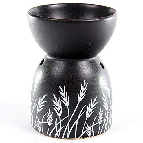Puckator Ceramic Oil Burner Grass Design Black Tristar OB110 FG-PKT609