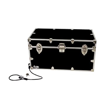 College Dorm Room U0026 Summer Camp Lockable Trunk Footlocker With Cable Lock    Undergrad Trunk By