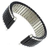 16-22mm Speidel Stainless Steel Black Romunda Twist-O-Flex Watch Band 00107602