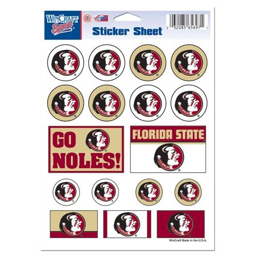 WinCraft NCAA Florida State University Vinyl Sticker Sheet, 5