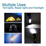 Portable LED Work Light Camping Light LED Flashlight for Auto, Home, Hunting, Emergencies with 360 Degree Rotating Hanging Hook and Magnetic Base