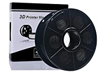 NOVESTE 3D Printer Filament PLA 1.75mm 2.2 pounds 1KG Spool Dimensional Accuracy +/- 0.02 mm Black from NOVESTE