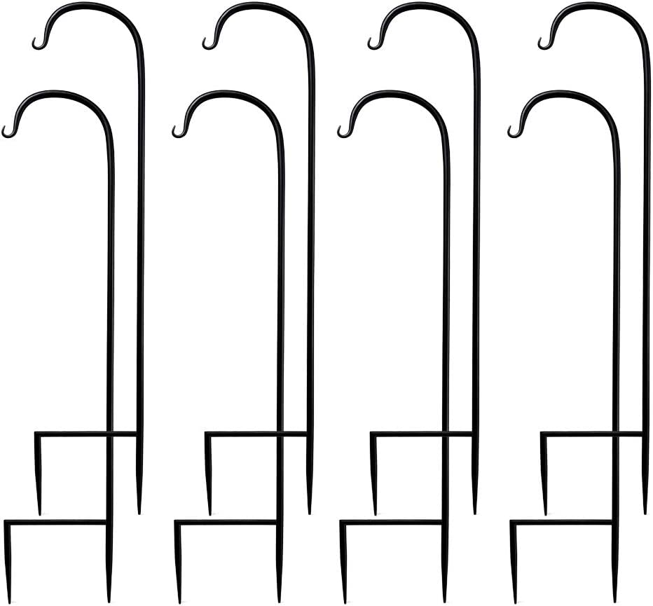 Shepherd Hooks 32 Inches Durable Strong Outdoor Hooks for Lights Plants Flowers Pack of 8