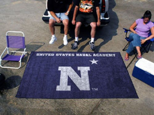 Us Navy Naval Academy College Tailgate Party Rug 5' X 8' Military Outdoor Carpet