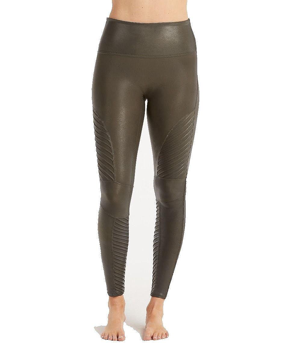1ca3bfcd9ab8e1 SPANX Women's Faux Leather Moto Leggings at Amazon Women's Clothing store: