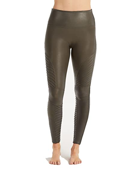 extremely unique super cheap world-wide free shipping SPANX Women's Faux Leather Moto Leggings