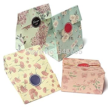 Amazon.com: Colorful Papel de Estraza Bolsa de regalo para ...