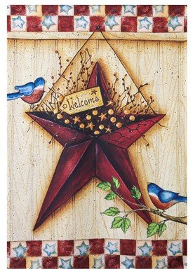 - Americana Star House Flag 28 x 40 America Welcome Barn Country Style USA