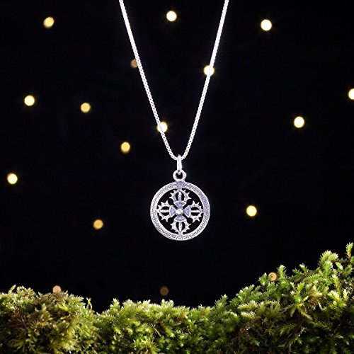 Sterling Silver Double Vajra, Tibetan Dorje - (Pendant, for sale  Delivered anywhere in USA