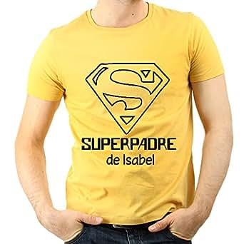 Camiseta Personalizada 'Superpadre' Amarilla en Todas Las Tallas - Regalo para el Día del Padre