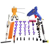 HIYI 51pcs Paintless Dent Repair kits Glue Puller Slide Hammer Dent Lifter Pop a Dent tabs Magic tools