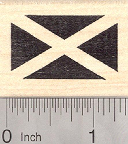 Flag of Scotland Rubber Stamp, Saint Andrew's Cross, (Scotland Nature)