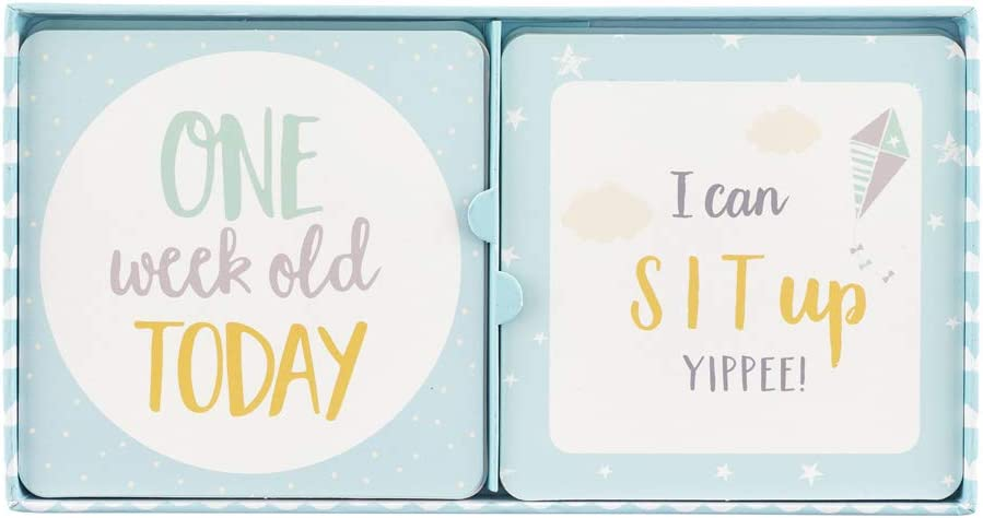 Pack of 24 Baby B Milestone Cards 8984 Blue