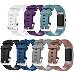 Compatible Models: This buckle band is compatible for Fitbit Charge 2 Only, Please pay attention to it before you are buying. Colorful Colors Colors Available: Black, White, Pink, Purple, Teal, Grey, Blue, Rose, Red, Lavender, Coffee and so m...
