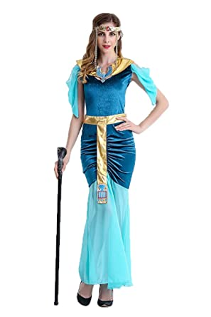 fcfce7479274 Amazon.com: Women's Sexy Cleo Greek Goddess Princess of Arabia Costumes for Halloween  Adult Party Fancy Cosplay Costumes Dress: Clothing