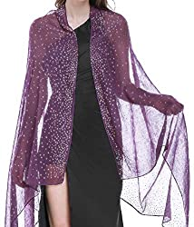Purple Shawl with Rhinestone